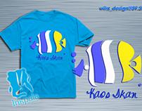 t-shirt design for KAOS IKAN