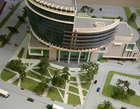 "Architectural model ""The theatre of Nadezhda Babkina"""