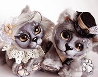 British wedding cats