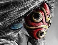 San's Fury Princess Mononoke Digital Painting