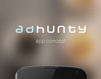 adhunty app concept