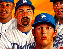 LA Dodgers for Los Angeles Times, posters for fc Zenit