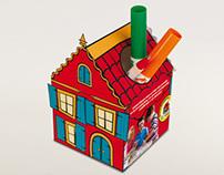 Paper-cutout House