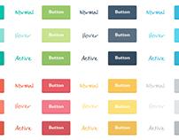 Freebie: Flat Buttons (CSS & PSD)