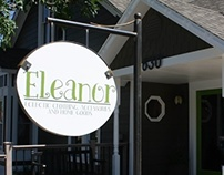 Eleanor, hand painted sign