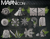 Mayan vector icon pack