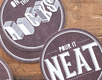 Knob Creek: Letterpressed Coaster Set