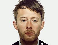 Thom Yorke painting