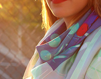 RAYGUN inspired Silk Scarves