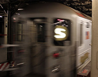 Out-of-Home Advertising: Times Sq Shuttle Train Wrap
