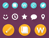Flat Icons for Creative Website