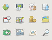 Trading App Sketch Style Icons