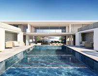 Photorealistic rendering luxury villa Cote d'Azur