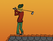 Golfer on the Roof