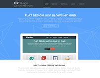 MYDesign - Onepage Multipurpose Flat PSD Template