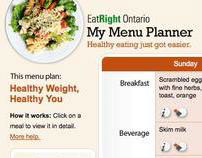 Eat Right Ontario Menu Planner