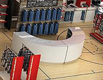 Sportshop design made in 3D