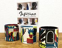 Infusione, ceramica e illustrazione.