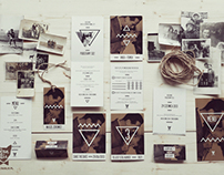 "Wedding Stationery ""Image with Bogart"" / Brown"