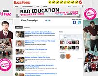 BBC 3 - Bad Education Website take over skins
