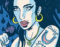 Amy Winehouse editorial portrait