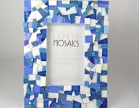 Blue Mosaic 4x6 Picture Frame