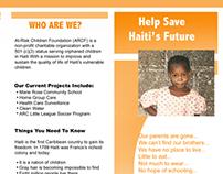 At Risk Children Foundation brochure