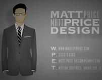 Matt Price Showreel Fall 2013