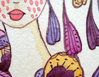 Watercolor miniatures.