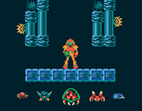 Metroid Level One Poster