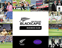 BLACKCAPS Business Club Proposal - Publication Design