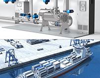 3D-Animation Ballastwasser-Aufbereitung auf Schiffen