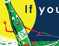 Excel Bottling Ski Bumper Sticker