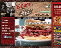 Kahn's Deli Web Design & App