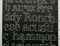 Jazz concerts blackboards / typographic solutions