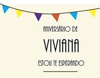 Aniversário de Viviana - CONVITE ONLINE