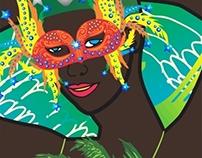 samba girls face vector art