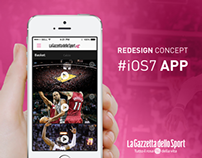 Gazzetta Mobile App, iOS7 Redesign Concept,