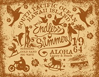 endless summer set vector art