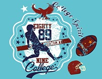college sports american football vector art