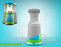 Logo, packiing, 3d Bottle modeling and texturin..