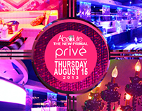 Prive Nightclub Design Work