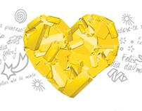 Sim, no dia da mãe o coração é amarelo