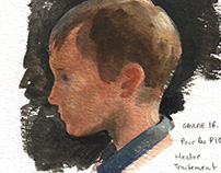 Demos - watercolor and gouache portraits