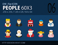 60 Flat ICONs (People)
