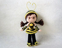 Bee Girl Amigurumi