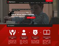 Ziraat Sigorta / One Page Website