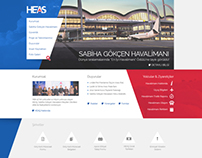 HEAŞ / Airport Website