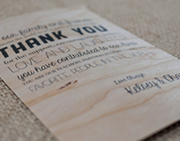 Wooden Thank You Note