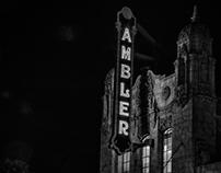 Ambler Theater at night
